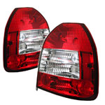 Spyder Honda Civic 96-00 3dr Tail Lights - Red Clear