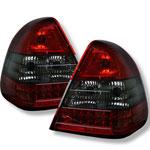 Spyder Mercedes Benz W202 C-class Led Tail Lights - Red Smoke - (ALT-YD-MBZC94-LED-RS); 1994-2000
