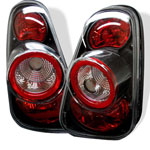 Spyder Mini Cooper / Cooper Convertibles Altezza Tail Lights - Black - (ALT-YD-MC02-BK); 2002-2006