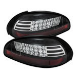 Spyder Pontiac Grand Prix LED Tail Lights - Black - (ALT-YD-PGP97-LED-BK); 1997-2003