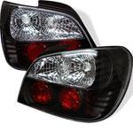 Spyder Subaru Impreza WRX / Sti 4Dr (Not Fit Wagon) Altezza Tail Lights - Black - (ALT-YD-SI01-BK); 2002-2003