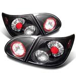 Spyder Toyota Corolla LED Tail Lights - Black - (ALT-YD-TC03-LED-BK); 2003-2008