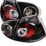 Spyder Volkswagaen Golf V Altezza Tail Lights - Black - (ALT-YD-VG03-BK); 2006-2009