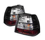 Spyder Volkswagen Jetta LED Tail Lights - Black - (ALT-YD-VJ99-LED-BK); 1999-2004