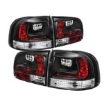 Spyder Volkswagen Touareg LED Tail Lights - Black - (ALT-YD-VTOU04-LED-BK); 2003-2007