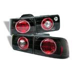 Spyder Honda Accord 92-93 4Dr Halo Euro Tail Lights - Black