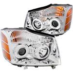 ANZO USA Nissan Armada Projector Headlights W/ Halo Chrome (Ccfl); 2004-2007