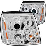 ANZO USA Cadillac Escalade Projector Headlights W/ Halo Chrome (Ccfl) (Hid Compatible); 2003-2006