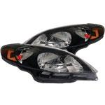 ANZO USA Toyota Matrix Crystal Headlights Black; 2003-2008