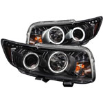ANZO USA Scion Xb Projector Headlights W/ Halo Black; 2008-2010