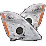 ANZO USA Toyota Prius Projector Headlights W/ Halo Chrome (Ccfl); 2004-2009