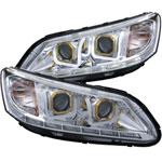 ANZO USA Honda Accord 4dr Projector Headlights W/ U-Bar Chrome; 2013-2015