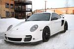 Agency Power Carbon Fiber TechArt Style Front Lip Spoiler Porsche 997 Turbo; 2007-2013