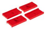 Prothane 62-74 MG Midget Leaf Spring Pad Kit - Red; 1962-1974