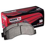 Hawk 07-08 Escalade 6.2 / 07-08 Avalanche Super Duty Rear Brake Pads; 2007-2008