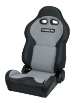 Corbeau VX2000 Reclining Seat in Black Vinyl/ Grey Cloth