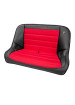 Corbeau Baja Bench 40 inch Seat in Black Vinyl / Red Cloth; 1950-2017