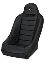 Corbeau Baja Ultra Suspension Seat in Black Vinyl - Wide; 1950-2012