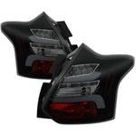 Spyder 12-14 Ford Focus 5DR LED Tail Lights - Black Smoke (ALT-YD-FF12-LED-BSM); 2012-2014