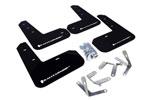 Rally Armor 13+ Subaru BRZ / 13+ Scion FR-S UR Black Mud Flap w/ White Logo; 2013-2021