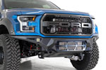 Addictive Desert Designs Ford Raptor F-150 Bomber Front Bumper w/ 2 20in Light Bar Mounts; 2017-2020