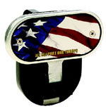 Defenderworx American Flag - Image Line - 2 Inch Fold Down Step Hitch