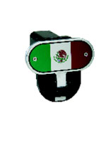 Defenderworx Mexican Flag - Image Line - 2 Inch Fold Down Step Hitch