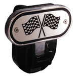 Defenderworx Racing Flags - Black - 2 Inch Fold Down Step Hitch