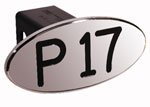 Defenderworx P17 - Black - Oval - 2 Inch Billet Hitch Cover
