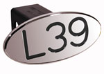 Defenderworx L39 - Black - Oval - 2 Inch Billet Hitch Cover