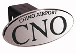Defenderworx CNO Chino Airport - Black - Oval - 2 Inch Billet Hitch Cover