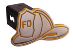 Defenderworx Firemans Hat - Yellow - Cutout Hat - 2 Inch Billet Hitch Cover