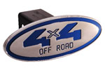Defenderworx 4 x 4 Off Road - Blue - Oval - 2 Inch Billet Hitch Cover