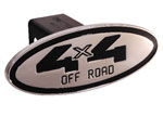Defenderworx 4 x 4 Off Road - Black - Oval - 2 Inch Billet Hitch Cover