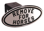 Defenderworx Remove For Horses - Black - Oval - 2 Inch Billet Hitch Cover