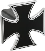 Defenderworx Iron Cross - Black - 1-1/4 Inch Billet Hitch Cover