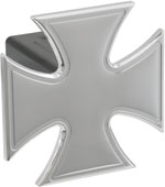 Defenderworx Iron Cross - Polished - 1-1/4 Inch Billet Hitch Cover