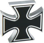 Defenderworx Iron Cross - Cutout 1-1/2' - Black - Billet Emblem