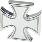 Defenderworx Iron Cross - Cutout 1-1/2' - Polished - Billet Emblem