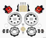 Wilwood Combination Parking Brake Rear Kit 12.19in Drilled Red 2006-Up Civic / CRZ; 2006-2021