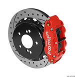 Wilwood Narrow Superlite 4R Rear Kit 12.88in Drilled/Slotted Red 00-06 BMW M3 E46; 2000-2006