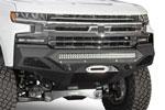 Addictive Desert Designs Chevrolet Silverado 1500 SF Front Bumper w/ Winch Mount&Sensor Cutout; 2019-2022