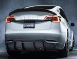 Vorsteiner Tesla Model 3 Volta Aero Rear Diffuser Carbon Fiber PP 2X2 Glossy; 0-0