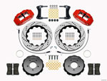 Wilwood Narrow Superlite 6R Front Hat Kit 14.00in Drill Red 2005-Up Mazda Miata w/ Lines; 2005-2021