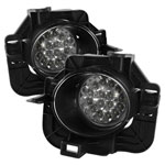 Spyder Nissan Altima 4Dr LED Fog Lights - Clear - (FL-LED-NA07-4D-C); 2007-2009