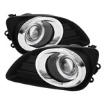 Spyder Toyota Camry Halo Projector Fog Lights - Clear - (FL-P-TCAM2010-HL); 2010-2011