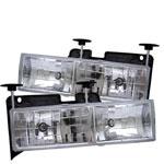 Spyder C-10 C/k Series Glass Crystal Headlights - (HD-YD-CCK88-C); 1988-1999