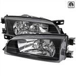 Spec-D Tuning Subaru Impreza Crystal Housing Headlights Black; 1995-2001