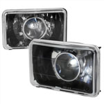 Spec-D 4 X 6 Projector Headlights Black; 1950-2011