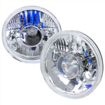 Spec-D 7 Projector Headlights - Round W,h4